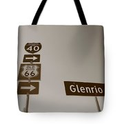 Route 66 - Glenrio Texas Tote Bag