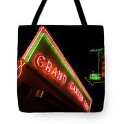 Route 66 Grand Canyon Neon Tote Bag