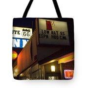 Route 66 Inn Tote Bag