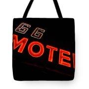 Route 66 Motel Neon Tote Bag