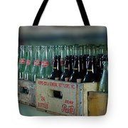 Route 66 Odell Il Gas Station Cases Of Pop Bottles Digital Art Tote Bag