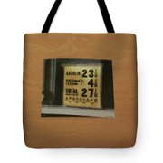 Route 66 Odell Il Gas Station Gas Prices Signage Tote Bag