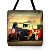 Route 66 Parking Lot Tote Bag