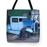 Route 66 Repair Shop Tote Bag
