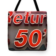 Route 66 Return To The 50s Tote Bag