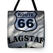 Route 66 Sign In Flagstaff Arizona Tote Bag