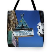 Route 66 Turquoise Tepee Tote Bag