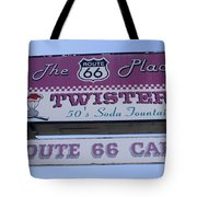 Route 66 Twisters Sign Tote Bag