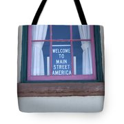 Route 66 Welcome Sign Tote Bag