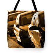 Row Of Cars Tote Bag