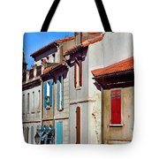 Row Of Houses In Arles Provence Tote Bag