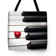 Row Of Piano Keys Tote Bag by Garry Gay