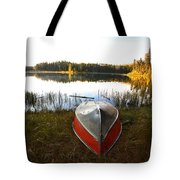 Rowboats At Jade Lake In Northern Saskatchewan Tote Bag