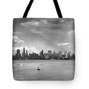 Rowing To Manhattan Tote Bag
