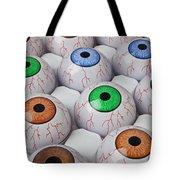 Rows Of Eyeballs Tote Bag