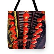 Rows Of Red Chinese Paper Lanterns - Shanghai China Tote Bag