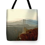 Royal Gorge Bridge Colorado - Take A Walk Across The Sky Tote Bag by Christine Till