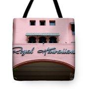 Royal Hawaiian Hotel Entrance Arch Tote Bag