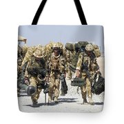 Royal Marines Haul Their Equipment Tote Bag