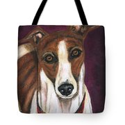 Royalty - Greyhound Painting Tote Bag by Michelle Wrighton