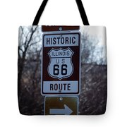 Rt 66 Il Turn Out Signage Tote Bag