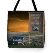 Rt 66 Towanda Signage Tote Bag
