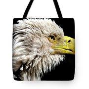Ruffled Bald Eagle Tote Bag