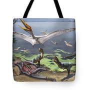 Rugops Primus Dinosaurs And Alanqa Tote Bag