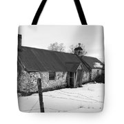 Ruined Cottage In Snow Tote Bag