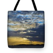 Running Out At Sunset Tote Bag