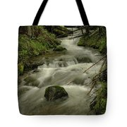 Running Over The Rocks   Tote Bag
