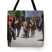 Running The Horses Tote Bag