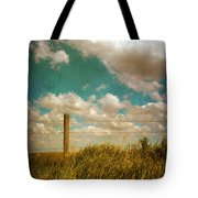 Rural Barbed Wire Fence Tote Bag