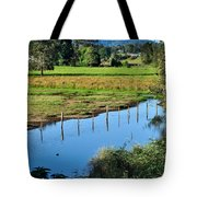 Rural Landscape After Rain Tote Bag