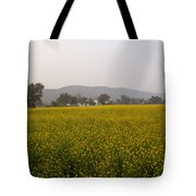Rural Landscape With A Field Of Mustard Tote Bag