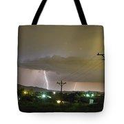 Rural Lightning Striking Tote Bag