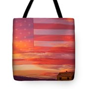Rural Patriotic Little House On The Prairie Tote Bag by James BO  Insogna