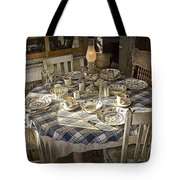 Rural Table Setting For Four No.3121 Tote Bag