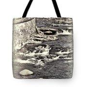 Rushing Water Cream Tote Bag
