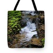 Rushing Water On Mt Spokane Tote Bag