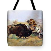 Russell: Buffalo Hunt Tote Bag