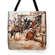 Russell Cowboy Art, 1909 Tote Bag