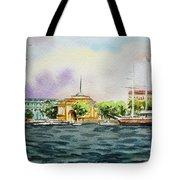 Russia Saint Petersburg Neva River Tote Bag