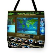 Russian Mission Control Center Tote Bag by Nasa