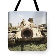 Russian T-54 And T-55 Main Battle Tanks Tote Bag