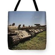 Russian T-62 Main Battle Tanks Rest Tote Bag