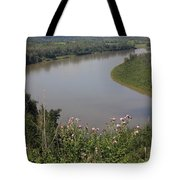Russian Thistle By The North Saskatchewan River Tote Bag