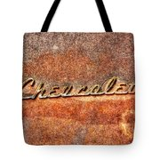 Rusted Antique Chevrolet Logo Tote Bag