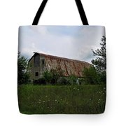 Rusted Barn Roof Tote Bag