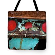 Rusted Blue Taillight Tote Bag
